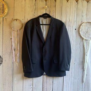 Custom Made Black Men's Blazer 46L